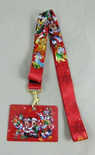 Disney Pin Lanyard - Disneyland Paris - Christmas Holiday - Mickey and Friends
