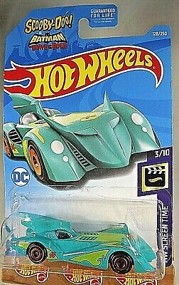 2019 Hot Wheels #128 HW Screen Time Scooby-Doo!&Batmobile 3/10 BATMOBILE Teal