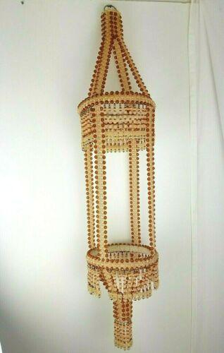 "Vintage Victorian Styled Handmade Beaded Art  Ceiling Hanger 38"" Long unique"