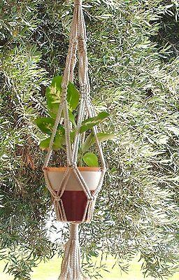 Macrame Plant Hanger 24in Vintage style  PEARL
