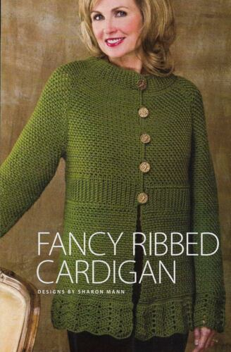 FANCY RIBBED CARDIGAN SWEATER 6 SIZES WOMEN