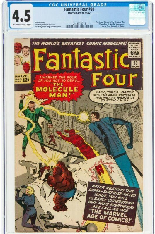 Fantastic Four #20 CGC 4.5 - 1st Molecule Man(11/63)