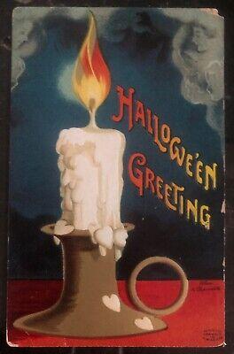 Halloween 1910 Movie (1910 Ridgewood NJ Usa Picture Postcard PPC Cover Halloween)