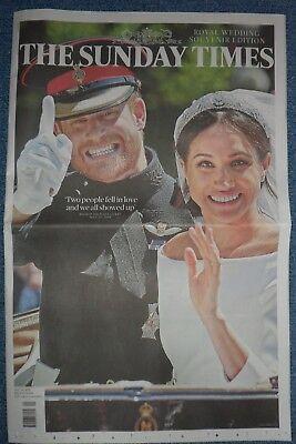 Royal Wedding Harry Megan The Sunday Times  Newspaper May 19 2018.