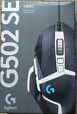 Logitech G502 HERO SE Wired Optical Gaming Mouse Black 910-005728 New!