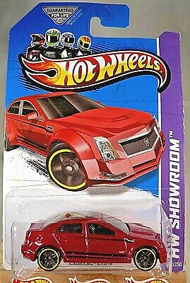 2013 Hot Wheels #152 HW Showroom-Asphalt Assault CADILLAC CTS-V Red Variation