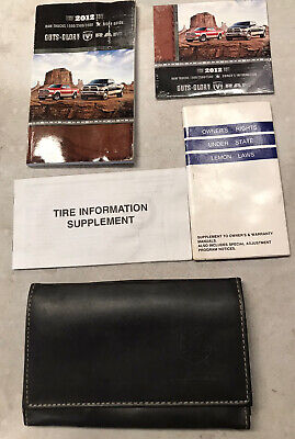 2012 DODGE RAM 1500 2500 3500 Factory OWNERS MANUAL User Guide DVD Leather Case