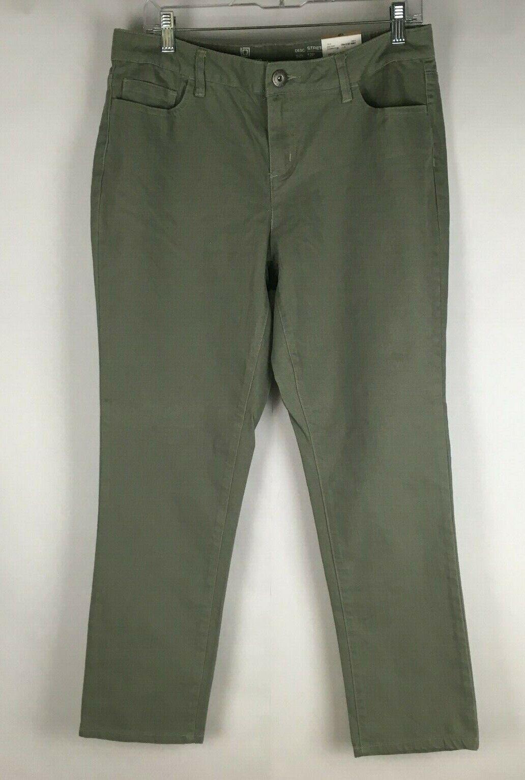 Liz Claiborne Women's Pants Size 12 Petite Sage Green Slim A