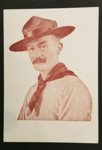 Mint Vintage Hungary Boy Scouts Scout Leader Portrait Illustrated Postcard