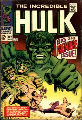 Incredible Hulk #102 Silver Age Marvel 5.0