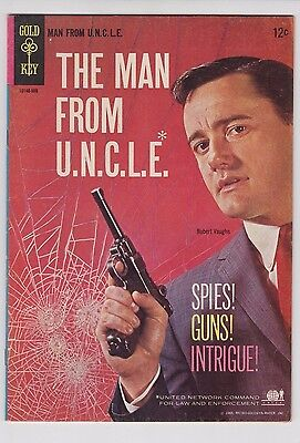 The Man From Uncle  1 Dell Gold Key Vf Condition Photo Cover