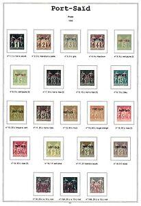 Album Port Saïd en couleur avec pochettes. Pas de timbres. No stamps. - France - Je propose des albums complets par pays pour les Colonies Franaises (sans les timbres). Les feuilles sont de qualité et permettent de ranger les timbres dans les meilleures conditions. Il ne s'agit pas d'un album imprimer soi-mme mais d'un artic - France