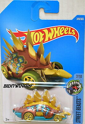 HOT WHEELS 2017 STREET BEASTS MOSTOSAURUS BROWN