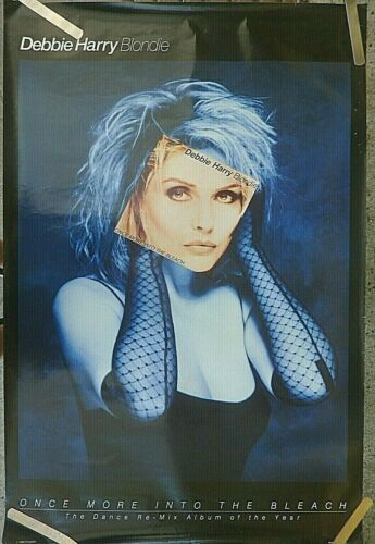 RARE BLONDIE ONCE MORE INTO THE BLEACH 1989 VINTAGE MUSIC STORE PROMO POSTER