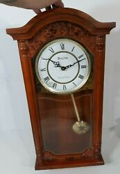 Bulova Westminster Chimes Strikes Whittington Wall Pendulum Clock Chime