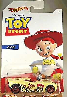 2019 Hot Wheels Toy Story Series-Jessie 3/6 VELOCITA Cream w/Red 5 Spoke Wheels