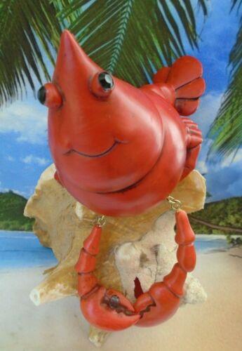 Ledge Sitting Shellfish Red Prawn Dangling Claws Figure Decoration