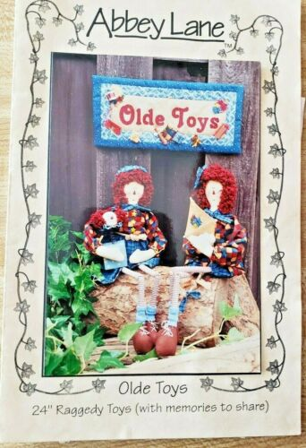 """Abbey Lane Designs Olde Toys 24"""" Raggedy Toys 1998 Uncut New in Package #142"""