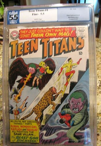 Teen Titans 1  PGX 5.5 White Pages