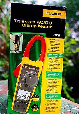 Fluke 376 375 374 Digital Clamp Meter 600 1000a Ac Dc Current Voltage Multimeter