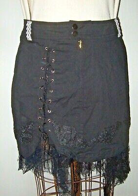 8432407e12 Black Mesh Stretch Skirt Gothic Lolita Punk Psychobilly Alternative Grunge  2 xl