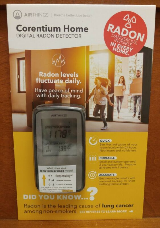 BB40 Airthings Digital Home Radon Detector NEW SEALED