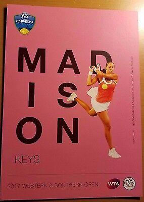 MADISON KEYS - 2017 Western & Southern ATP Tennis 5 x 7 Player Card