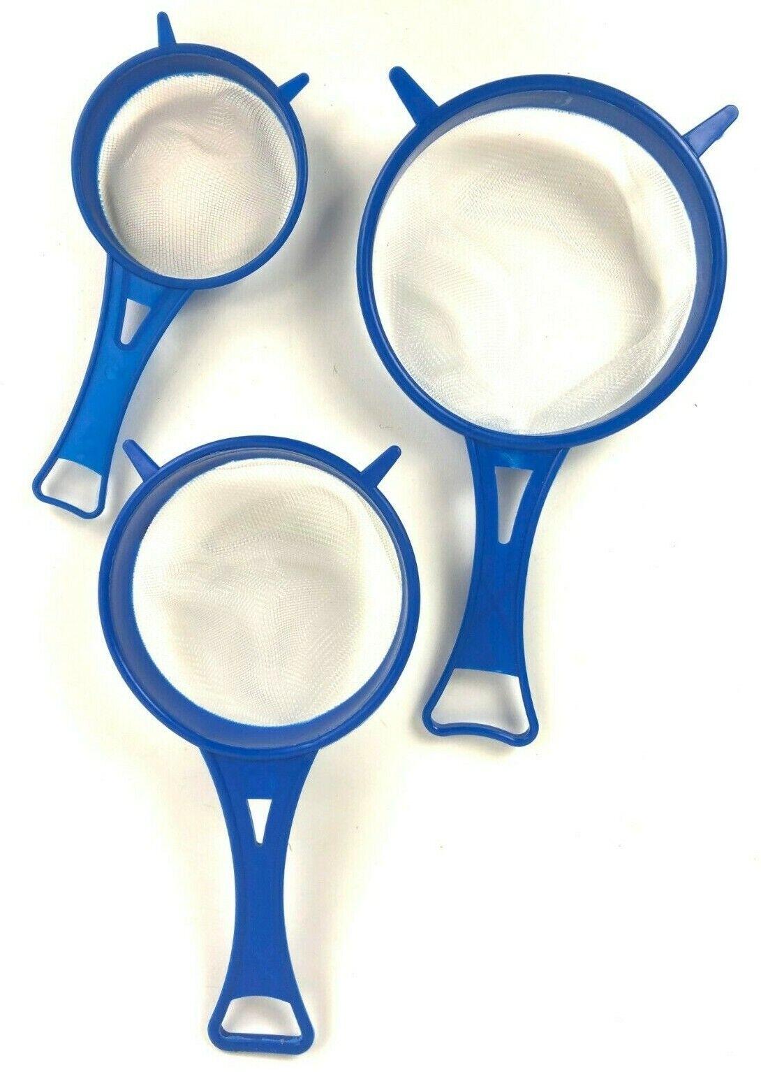 3er Set Küchensiebe flexibel Kunststoff Abtropf Passier Tee Sieb Seiher Hand