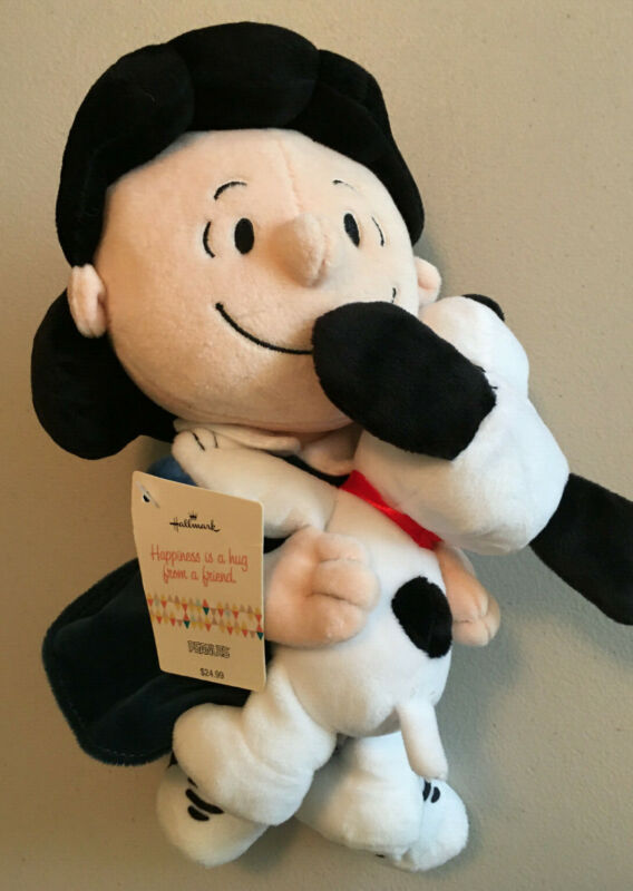 """Hallmark """"Happiness Is A Hug From A Friend"""" Lucy Snoopy Plush Brand New Peanuts"""