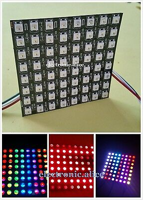 88 Display Flexible Led Matrix Ws2812b 8x8 Pixel Full Color Rgb Screen 5v Dc