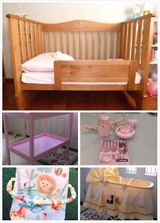 Boori sleigh Cot+bassinet+monitor+rocker+Change Table Eight Mile Plains Brisbane South West Preview
