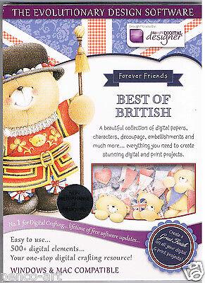 Papermania Forever Friends Royal Best Of British CD Rom DVD. Digital designer