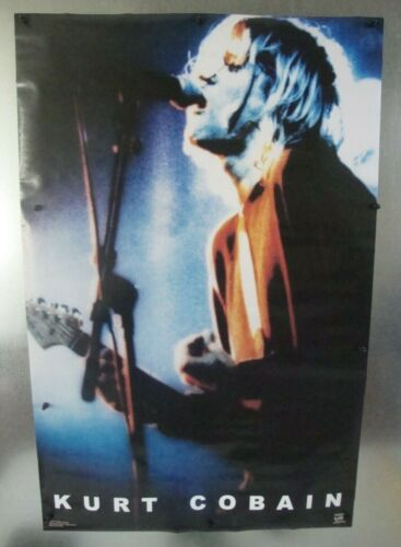 "Kurt Cobain Live Vintage Music Poster 22.5""W x 34.5""H Used 2000 Pre-Owned"