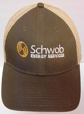 Schwob Energy Services Oil Gas Contractor Advertising New Era 39Thirty Hat Cap