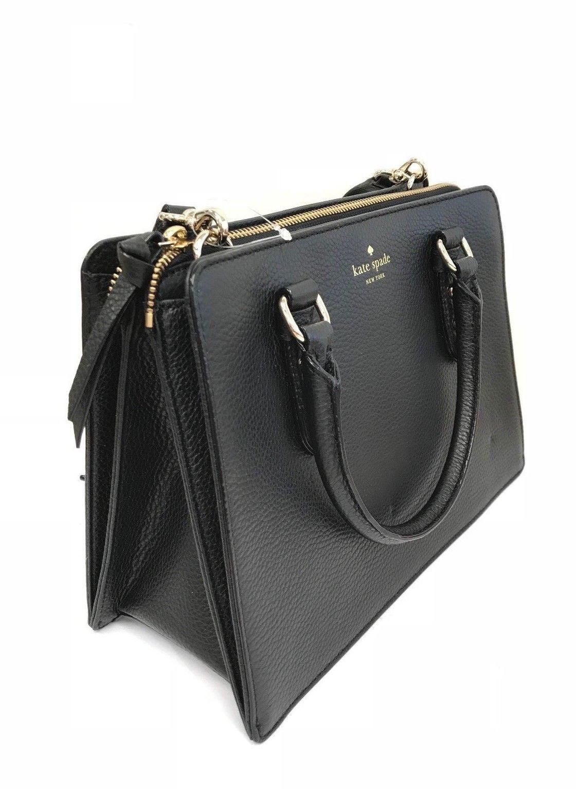 79ad7fca40 Kate Spade Mulberry Street Lise Black Leather Satchel WKRU4002 ...
