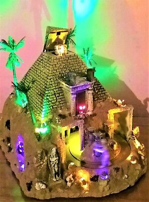 NEW Animated Haunted Pyramid 84770, Lemax Spooky Town Halloween Egyptian - Halloween Spooky Town