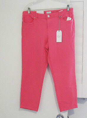 Style&Co.Womens Low Rise Cropped Pant Star Coral Sz 14 - NWT Womens Low Rise Cropped Pant