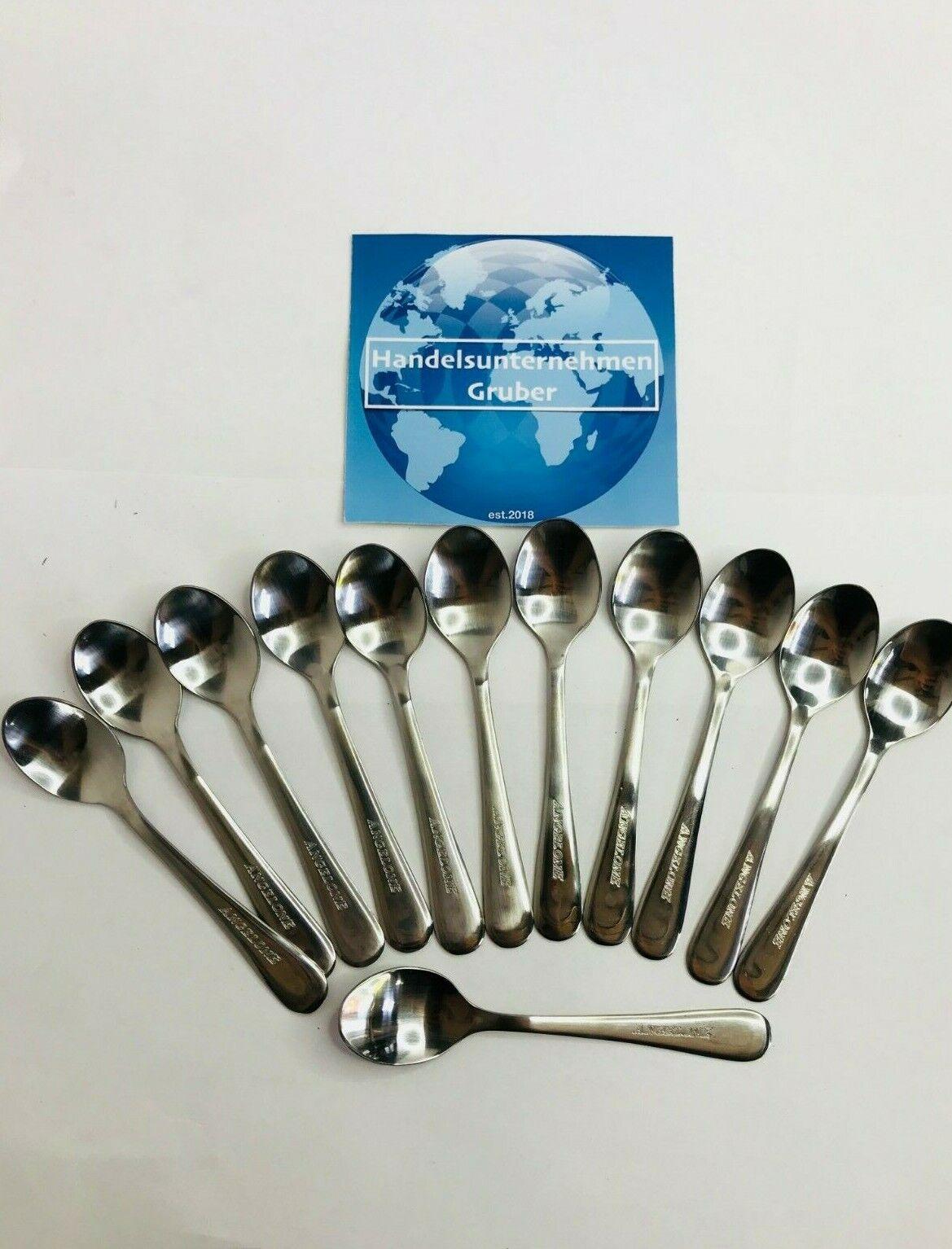 Kaffee - Tee - Eier - Espresso - Desert - Löffel - 12 cm - Angelone - 12 Stück