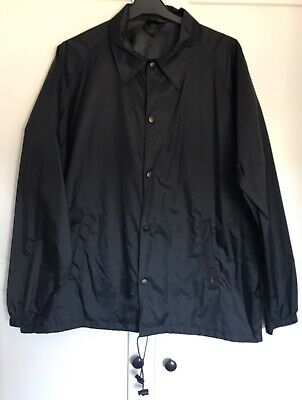 Vans Black Shower Proof Wind Breaker Jacket L Skate Goth Grunge Festival
