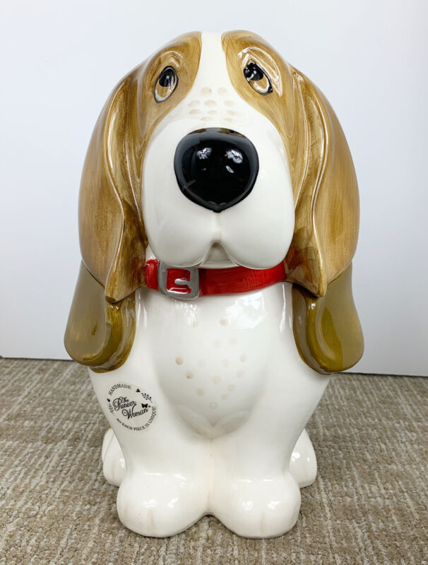 The Pioneer Woman Charlie Cookie Jar Dog 11 Inch Basset Hound