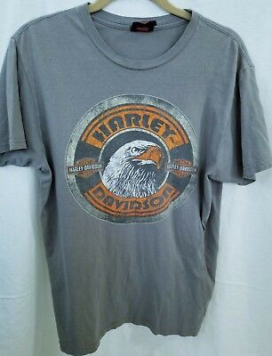 T-Shirt Size M Akron Ohio Rubber City Gray By Bravado (Rubber City Harley)