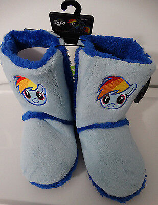 My Little Pony Rainbow Dash Women's Adult Boot Faux Fur Slippers M Medium](Adult Rainbow Dash)