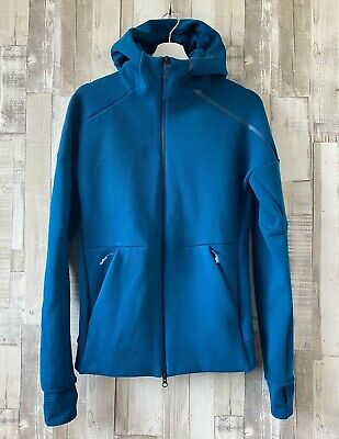 ADIDAS Z.N.E Fast Release Hoodie Petrol Blue Size XS