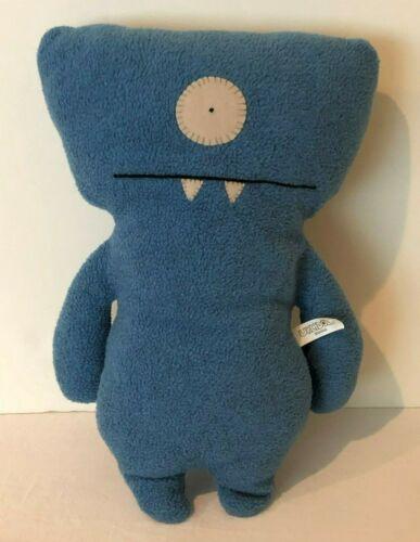 """UglyDoll Ugly Classic Plush Doll Wedgehead Stuffed Animal 13"""" Blue 2004"""