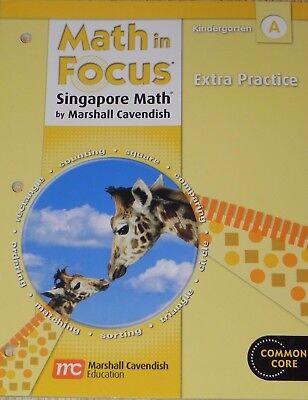 Hmh Math In Focus Singapore Math Extra Practice Workbook Book A Grade K 1St Half