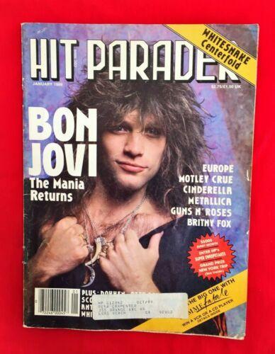 Hit Parader Magazine January 1989 Bon Jovi Motley Crue Guns N Roses Metallica