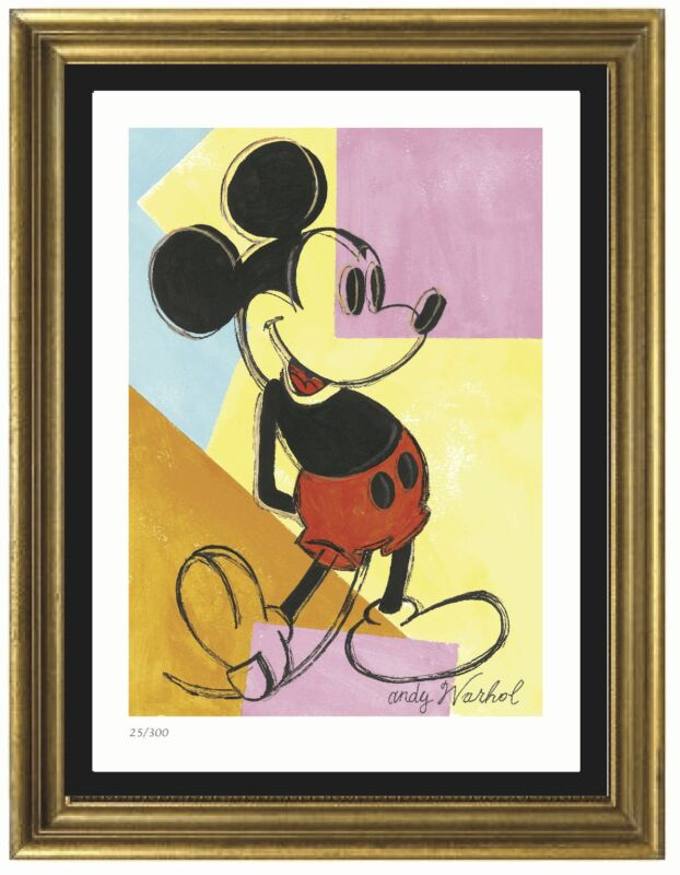 """Andy Warhol Signed/Hand-Numbered Ltd Ed """"Mickey Mouse"""" Litho Print (unframed)"""