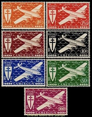 EBS French Cameroon 1942 - Air Mail - London Series - Dulac - CM PA12-18 MNH**