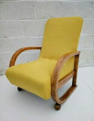 ART DECO BENTWOOD ARMCHAIR (RECENTLY RE UPHOLSTERED), COLLECTION MARGATE KENT.
