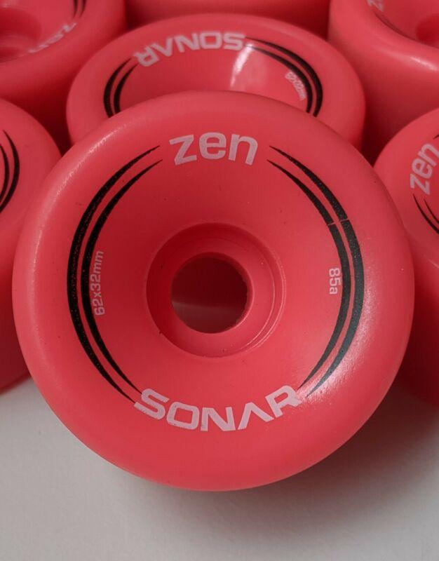 Sonar Zen Wheels - Quad Outdoor Roller Skate 8-Pack 32mm x 62mm 85A - Hot Pink